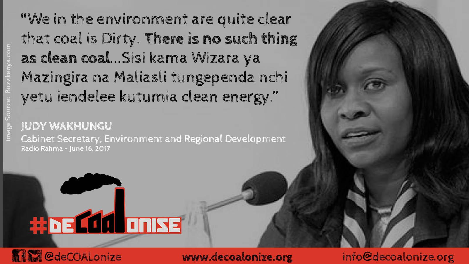 Judy Wakhungu on Clean Coal